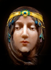 DRR6G9 Mask of Cleo de Merode by George Despret 1862-1952  Belgian Belgium
