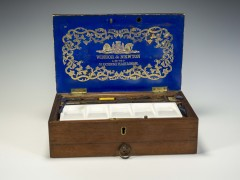 It arrived in the mail.  I stumbled upon an antique Winsor & Newton paint box.